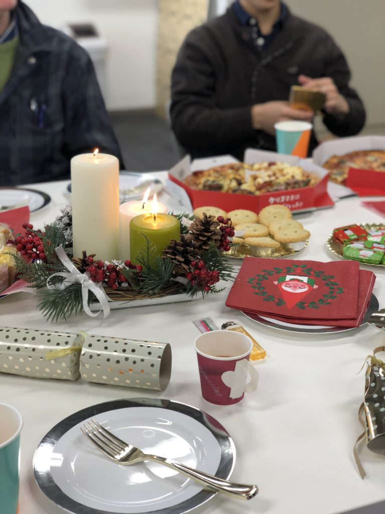 Christmas food on a table